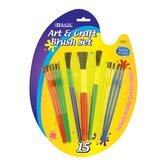 Kid's Watercolor Paint Brushes (Set of 15)