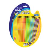 Kid's Water Color Paint Brushes (Set of 24)