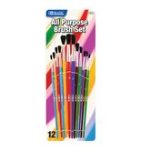 Assorted Size Paint Brushes (Set of 12)