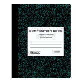 Quad-Ruled Marble Composition Book (Set of 48)