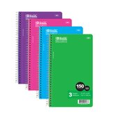 150 Ct. 3-Subject Spiral Notebook (Set of 24)