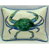 Coastal Male Blue Crab Indoor / Outdoor Pillow