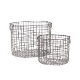 Metal Container Set of Two (Set of 2)