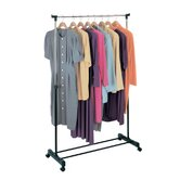 Free Standing Storage Rolling Adjustable Garment Rack Clothes Hanger