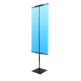"90"" Vertical Double-Sided Banner Stand"