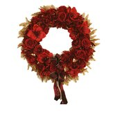 Artificial Rose and Amaryllis Wreath