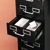 8-Drawer File Cabinet for 3 X 5 and 4 X 6 Cards, 15W X 52H
