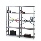 Commercial Steel Shelving, 5 Shelves, 36W X 12D X 75H