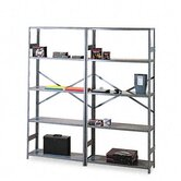 Commercial Steel Shelving, 6 Shelves, 36W X 12D X 75H