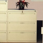 Lateral File With 3 Drawers and Retractacle Doors