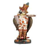 Outdoor Décor Large Parrot Waiter with Tray