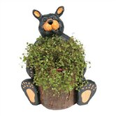 Bear Round Planter