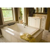 "Designer Angel 72"" W X 42"" D Bath Tub with Whirlpool System"