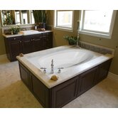 "Designer Ovation 84"" W X 42"" D Bath Tub with Combo System"