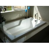 "Designer Solo 60"" W X 32"" D Bath Tub with Combo System"