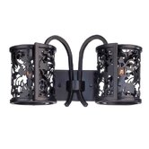Ophelia Two Light Wall Sconce in Ebony