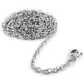 Rhodium Plated Rope Chain