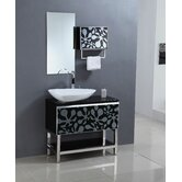 "35.5"" Single Bathroom Vanity Set in Black"