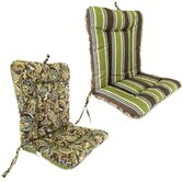 Wrought Iron Reversible Chair Cushion