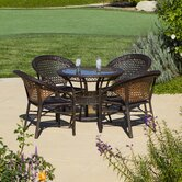 Andre 5 Piece Wicker Dining Set