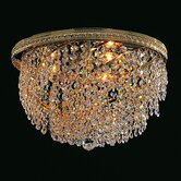 Bohemian Crystal Basket 6 Light Flush Mount