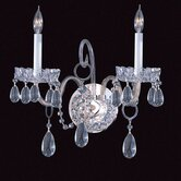Bohemian Crystal Candle Wall Sconce in Clear Crystal