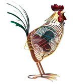 Rooster Country Figurine Table Top Fan