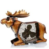 Moose Figurine Table Top Fan