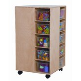 Space Saver Cubby Spinner with Clear Trays