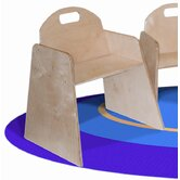 Woodie 11&quot; Plywood Classroom Stackable Tot Chair (Set of 2)