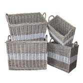 White x White Decorative Boxes, Bins, Baskets & Buckets