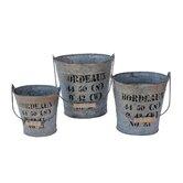 Bordeaux Oval Bucket (Set of 3)