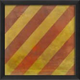 Signal Flag Y Framed Graphic Art