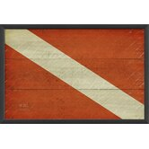 Diver Down Flag Framed Graphic Art