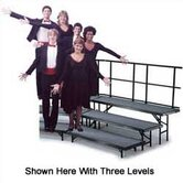 Four-Level Standing Choral Riser with Hardboard Deck
