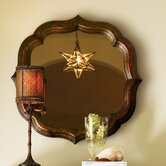 Royal Kahala Lotus Blossom Mirror in Distressed Tortoise Shell