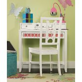 Lily 34&quot; W Writing Desk with Chair