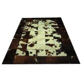 Dark Bronze Border Haired Cowhide Rug