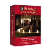 Electric Kraft Paper Luminaries (Set of 5)