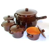 Italian Terracotta Stew Soup Pot and Crock with Lid
