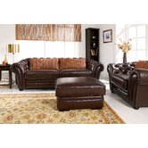 Maumo Full Semi Leather 3 Seater Sofa