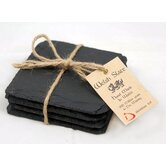 Welsh Slate Square 4 Piece Coaster Set