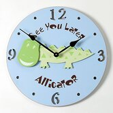 Alligator Kid Clock