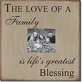 The Love of a Family Is Life's Greatest Blessing Memory Box