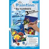 Painting by Numbers Junior Value Packs Sea Life Set (Set of 3)