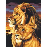 Painting by Numbers Artist Canvas Series Lion and Lioness Set