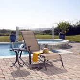 Island Breeze Sling Chaise Lounge and End Table Set