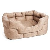Machine Washable Rectangular Heavy Duty Softee Basket Weave Dog Bed