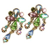 1950s Vintage Aurora Crystal Earrings
