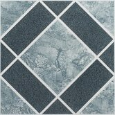 Nexus 12&quot; x 12&quot; Vinyl Tile in Light and Dark Blue Diamond